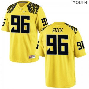 Adam Stack Oregon Ducks College Youth Game Jerseys - Gold