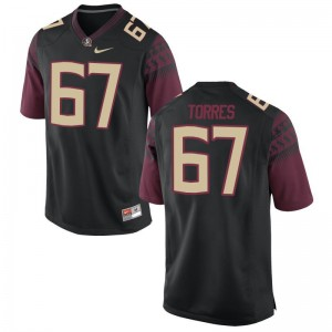Adam Torres Florida State Seminoles High School Men Game Jersey - Black
