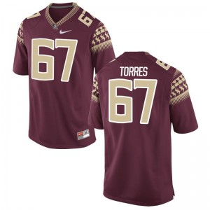 Adam Torres Florida State High School Mens Game Jersey - Garnet