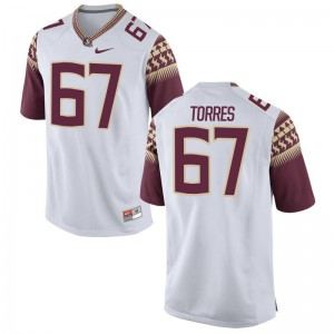 Adam Torres FSU Seminoles University For Men Game Jersey - White