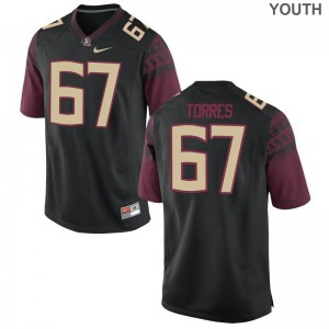 Adam Torres Florida State Seminoles Player Kids Game Jerseys - Black