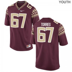 Adam Torres FSU Seminoles Player For Kids Game Jersey - Garnet