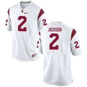 Adoree Jackson Trojans University Mens Game Jersey - White