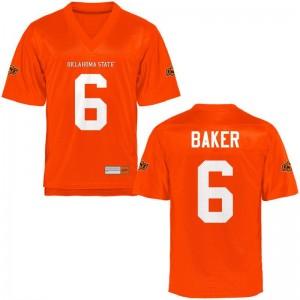 Adrian Baker Oklahoma State NCAA Mens Game Jerseys - Orange