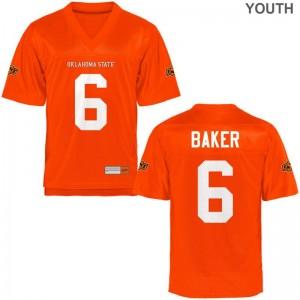 Adrian Baker OSU Cowboys High School Youth Limited Jersey - Orange