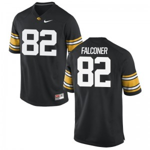 Adrian Falconer Iowa Hawkeyes Official Mens Game Jersey - Black