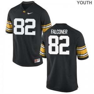 Adrian Falconer Iowa Hawkeyes Official For Kids Limited Jerseys - Black