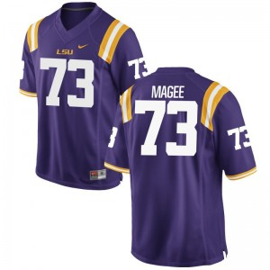Adrian Magee Louisiana State Tigers College Men Game Jersey - Purple