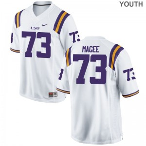 Adrian Magee LSU Tigers NCAA Youth Game Jersey - White
