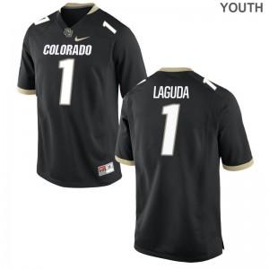 Afolabi Laguda UC Colorado High School Youth(Kids) Game Jersey - Black