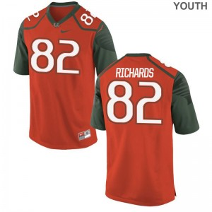 Ahmmon Richards University of Miami NCAA Youth(Kids) Game Jerseys - Orange