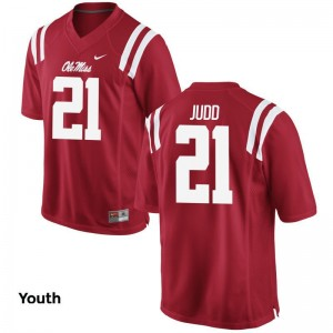 Akeem Judd Ole Miss High School For Kids Limited Jersey - Red