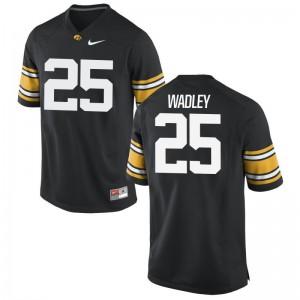 Akrum Wadley University of Iowa Alumni Mens Game Jersey - Black