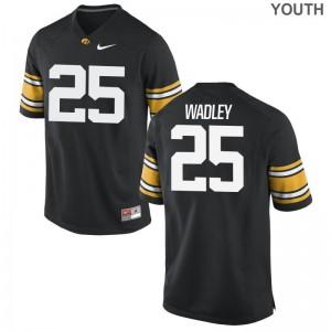 Akrum Wadley University of Iowa Player Kids Limited Jersey - Black