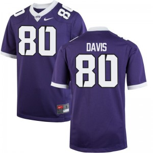 Al'Dontre Davis Texas Christian University Alumni For Men Limited Jerseys - Purple