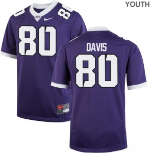Al'Dontre Davis Texas Christian University Football Kids Game Jerseys - Purple