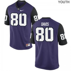 Al'Dontre Davis TCU Horned Frogs Football Kids Limited Jerseys - Purple Black