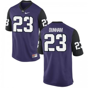 Alec Dunham Horned Frogs College Mens Game Jerseys - Purple Black