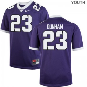 Alec Dunham Texas Christian University Official Youth Game Jersey - Purple