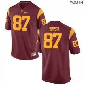 Alec Hursh USC Football For Kids Game Jerseys - White