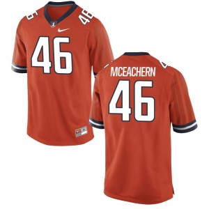 Alec McEachern Fighting Illini College Mens Game Jersey - Orange