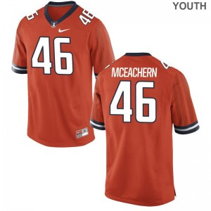 Alec McEachern UIUC College Kids Game Jerseys - Orange