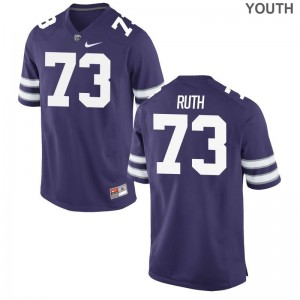 Alec Ruth Kansas State Wildcats High School For Kids Game Jerseys - Purple