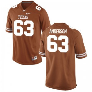 Alex Anderson University of Texas Football For Men Game Jersey - Orange