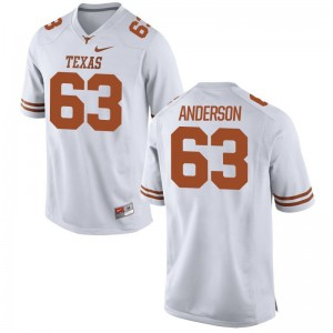 Alex Anderson Longhorns University Mens Game Jerseys - White
