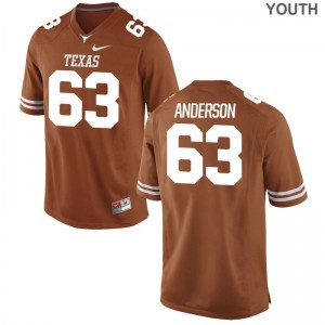 Alex Anderson University of Texas University Youth(Kids) Limited Jersey - Orange