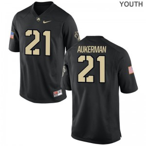 Alex Aukerman Army NCAA For Kids Game Jerseys - Black