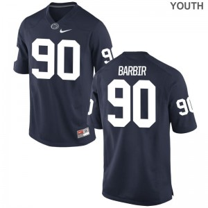 Alex Barbir Penn State Football Youth Game Jerseys - Navy
