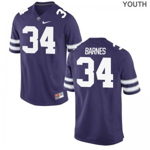 Alex Barnes Kansas State Player Kids Game Jersey - Purple