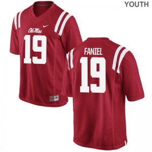Alex Faniel Ole Miss Rebels University Youth(Kids) Game Jersey - Red
