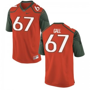 Alex Gall Miami Hurricanes Football Men Game Jerseys - Orange