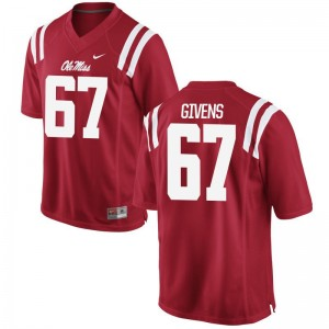 Alex Givens Rebels University Men Game Jerseys - Red