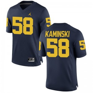 Alex Kaminski Michigan Football Men Game Jersey - Jordan Navy