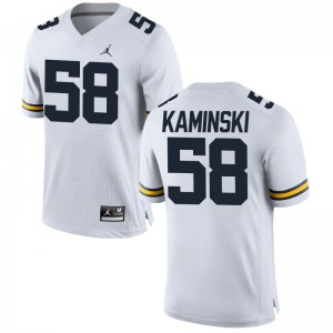 Alex Kaminski University of Michigan High School Mens Game Jerseys - Jordan White