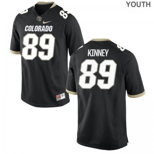 Alex Kinney UC Colorado College Youth(Kids) Game Jersey - Black