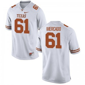Alex Mercado University of Texas High School Mens Game Jerseys - White