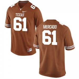 Alex Mercado Texas Longhorns Player Youth(Kids) Game Jersey - Orange