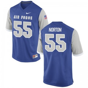 Alex Norton Air Force Football Men Game Jersey - Royal