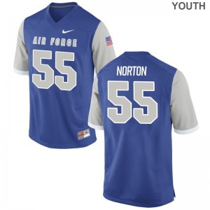 Alex Norton Air Force Academy College Youth(Kids) Game Jersey - Royal