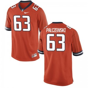 Alex Palczewski UIUC Football Mens Game Jersey - Orange