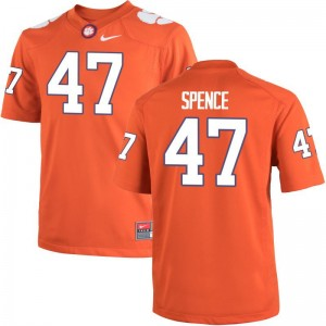 Alex Spence Clemson Tigers University Mens Game Jersey - Orange
