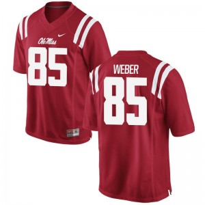 Alex Weber University of Mississippi Football For Men Limited Jersey - Red