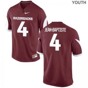 Alexy Jean-Baptiste Razorbacks Official Youth(Kids) Game Jerseys - Cardinal