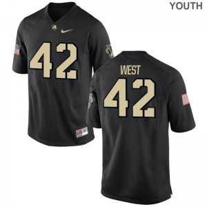 Amadeo West United States Military Academy High School Kids Game Jerseys - Black