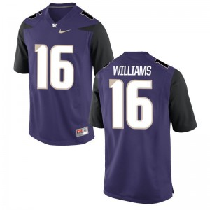 Amandre Williams University of Washington College Men Game Jerseys - Purple