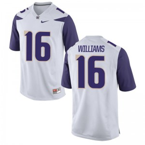 Amandre Williams UW Player Men Limited Jerseys - White